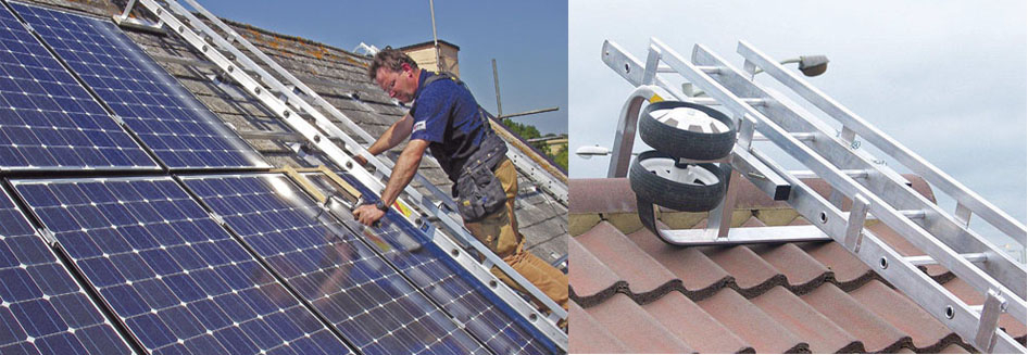 Solar maintenance ladder